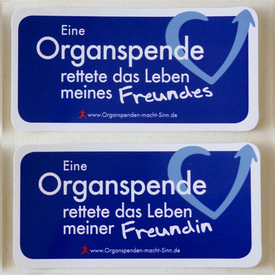Variante: Eine Organspende rettete das Leben meines Freundes und Variante: Eine Organspende rettete das Leben meiner Freundin