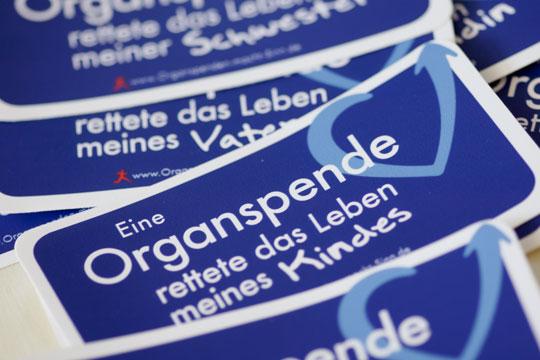Aufkleber Organspenden macht Sinn